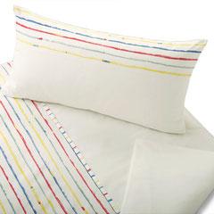 Bio Satin-Kinderbettwäsche Stripy