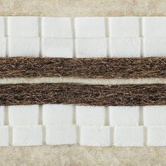 Naturmatratze Tafine, 4 Lagen Naturlatex, 2 Lagen Kokos, 2 Lagen Schafschurwollvlies, fest