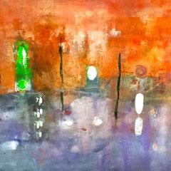 """""""Rosso di un viaggio"""", 2012  Tecnica mista, 90 x 81 cm"""