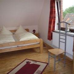 Bauernhof-Boie  Das Schlafzimmer mit 1 Doppelbett( 1,80 mx 2,00 m