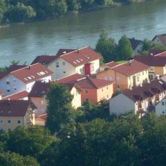 Ach da schau her: Schon geht es über den Hacklberg und Belvedere.
