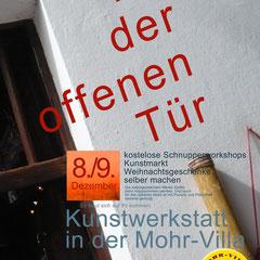 Tag der offenen Tür in der Mohr-Villa Kunstwerkstatt  - 8. u. 9. Dez 2012