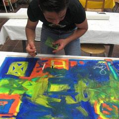 Mohr-Villa Kunstwerkstatt mit jugendlichen Flüchtlingen aus der Bayernkaserne - 10.Nov 2012