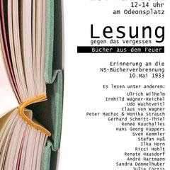 10. Mai Bücherlesung gegen das Vergessen 2012