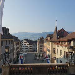 Rapperswil-Jona Aussicht auf den Hauptplatz