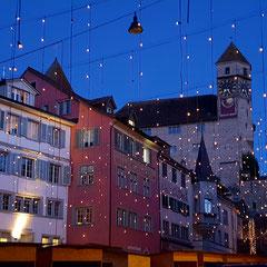 Rapperswil-Jona Hauptplatz in der Weihnachtszeit