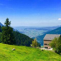 Kerenzerberg-Häberschwand mit Blick in die Linthebene