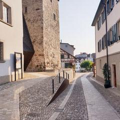 Rapperswil-Jona Sicht vom Schloss Richtung Engelplatz