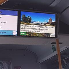 Linthfähre-Werbung im Stadtbus Rapperswil-Jona