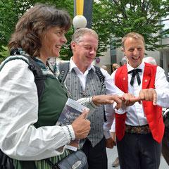 Anina, Werner und Thomas