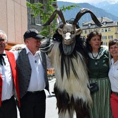 Walliser Geissbock mit Alphorners