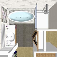 Salles de bain par MP intérieurs, Architecte d'intérieur UFDI sur Bordeaux et en Gironde (33)