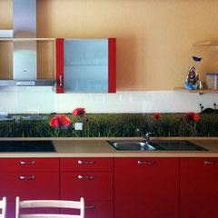 Küchenglas mit Digitaldruck Motiv