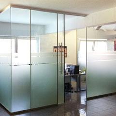 Ganzglasanlage - Bürocontainer