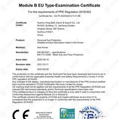 Safety Eyewear CE EN166:2001 & Safety Face Sheild CE EN1731:2006