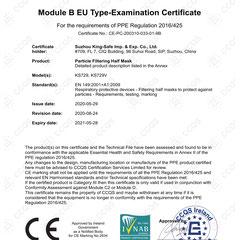 Particle Filtering Half Mask CE EN149:2001 FFP1 NR Model KS729/KS729V