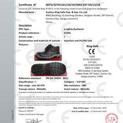 Safety Shoe CE ISO EN20345:2011 S1P SRC Model S3205