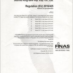 PVC Rain Boots CE ISO EN20347:2012 BO FO SRA Six Models