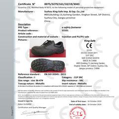 Safety Shoe CE ISO EN20345:2011 S1P SRC Model S3101