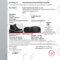 Safety Shoe CE ISO EN20345:2011 S1P SRC Model S3203