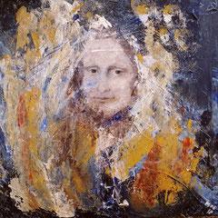 """""""Meine Mona"""", Acryl auf Keilrahmen, 50 x 50 cm"""