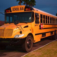 Amerikanischer Schulbus in Boulder City