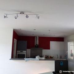 peinture cuisine rouge