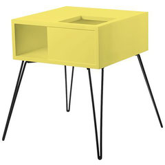 Retro plant table Yellow