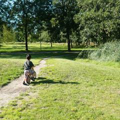 家の前にはこんな林が広がっています。オランダはとにかくどこもとても平坦で、子供が自転車を練習するには本当に最適。