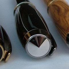 Zierring - Enkappen schwarz, Black Titanium Gold
