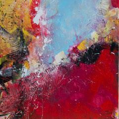 Feuerland - Acryl auf Leinwand, 60x67,5 cm, 2018, Silvia Ulrich