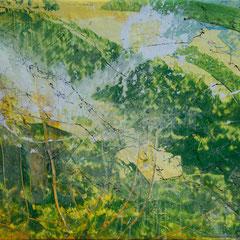 Greenland - Acryl auf Leinwand, 78x68 cm, 2018, S. Ulrich - VERKAUFT