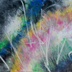 Sommergewitter - Acryl auf Leinwand, 80x60 cm, 2018, S. Ulrich