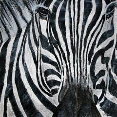 Zebra 5/6, 32,5x32,5cm, Acryl auf Holz, 2013