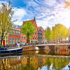 Kanal in Amsterdam Studienreise