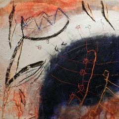 """""""machtstück, #2"""", 2015, mt auf papier auf leinwand, 60x60 cm"""