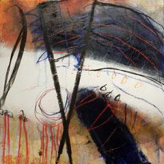 """""""machtstück, #4"""", 2015, mt auf papier auf leinwand, 60x60 cm"""
