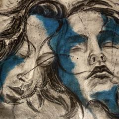 Fusain et encre sur papier  130 x 97
