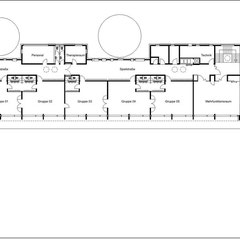 Kindertageseinrichtung - Grundriss Obergeschoss