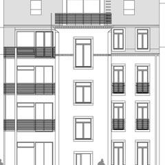Wohn- und Geschäftshaus - Gartenansicht (Süd)