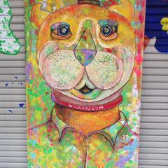 ライブペイント2011・犬山芸術祭:アクリル絵の具、クレヨン、鉛筆