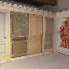 Hotel particulier renaissance - décors muraux Faux bois chêne-AVANT