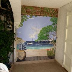 décor mur terrasse H 3m x L 5m