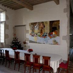 décor chateau privé - acrylique sur toile 3.00m x 1.95m Chateau viticole Lot & Garonne