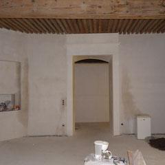 Hotel particulier renaissance - décors muraux Faux bois chêne - AVANT