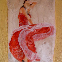 Particulier - décor sur mur - détail