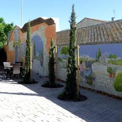 terrasse Hotel Vignes Blanches