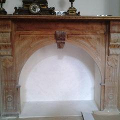 Hotel particulier renaissance - décors muraux Faux bois chêne