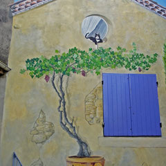 décor mural extérieur H 9m x L 12m détail