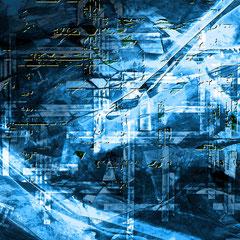 """""""Energie""""    2014, digitale Kombination aus Acrylwerk und Fotografie"""